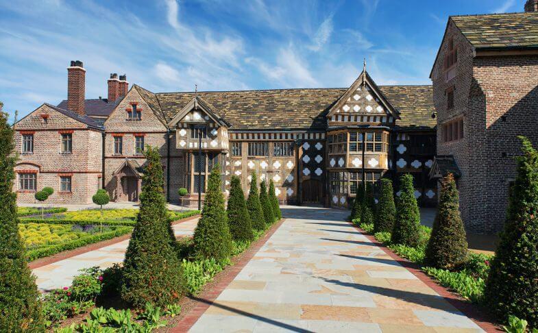 Ordsall Hall and gardens.