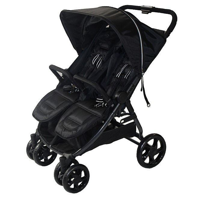 RedKite Push Me Twini double buggy in black.