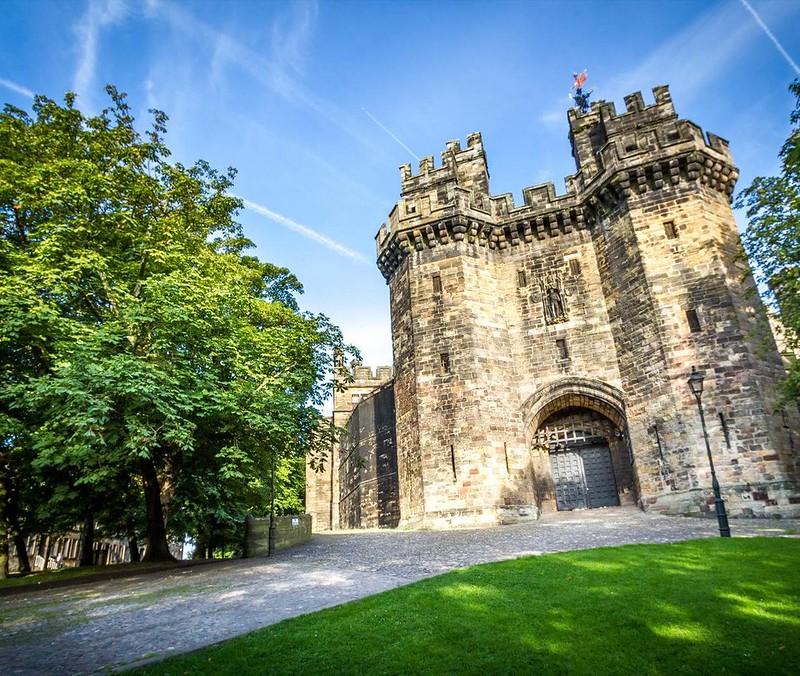 Entrance to Lancaster Castle.