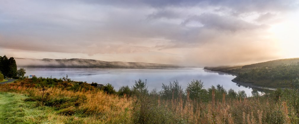 See the landscape of Kielder Water and Forest Park.
