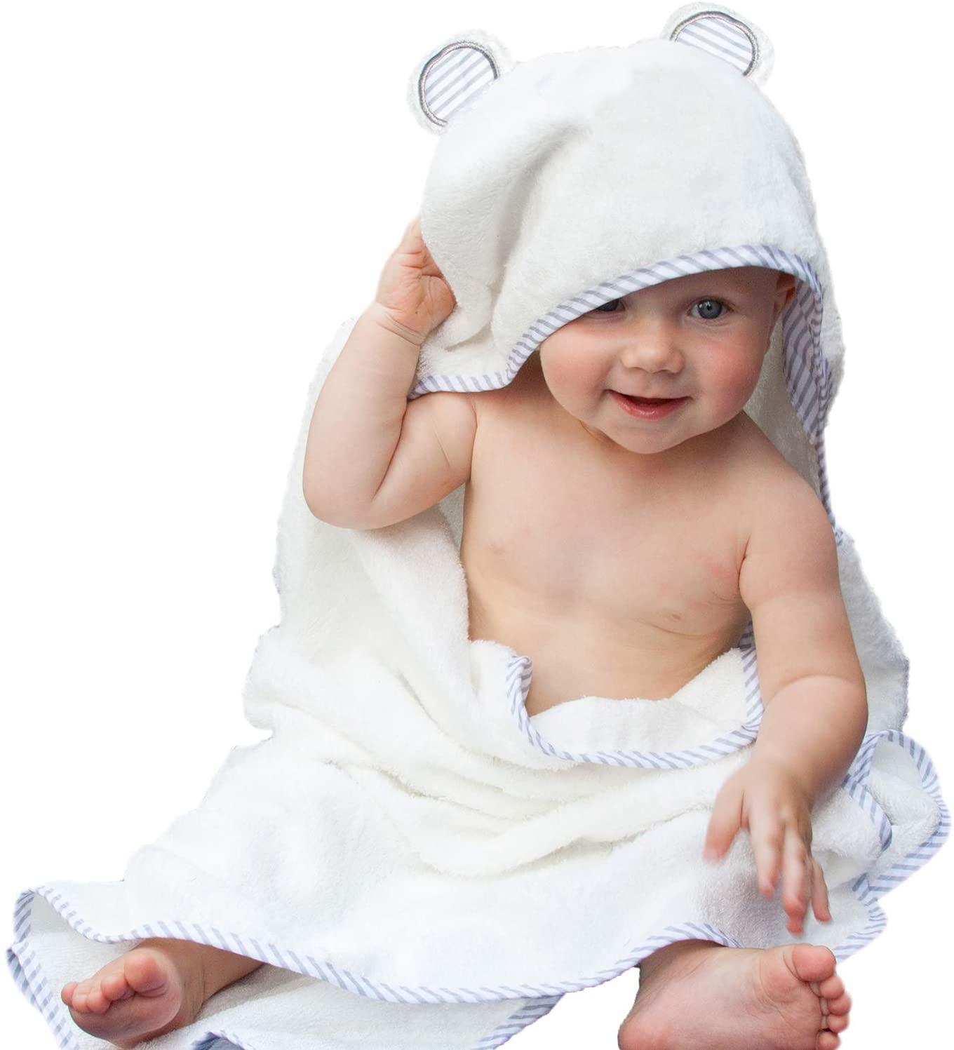 Liname organic bamboo hooded baby towel.
