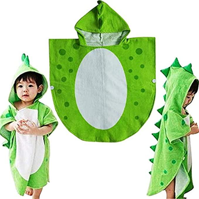 Myqiqi children's bath towel in a dinosaur design.
