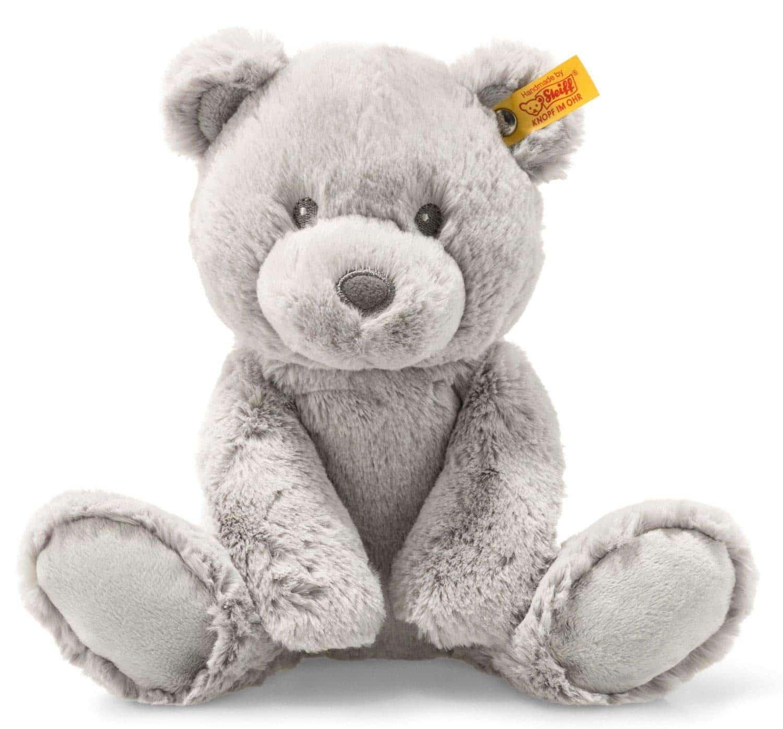 Soft grey Bearzy Teddy Bear best for cuddling.