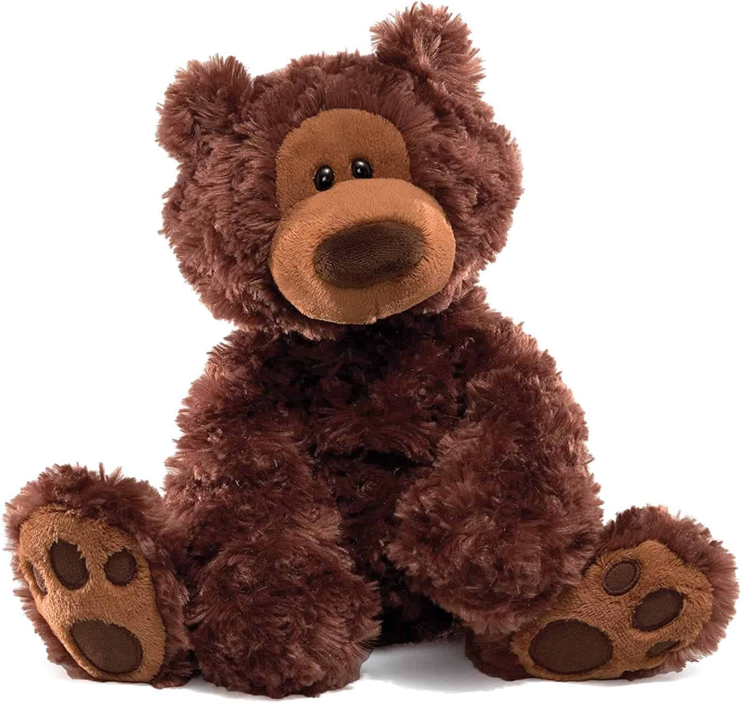 Soft and cuddly Chocolate Philbin Teddy Bear best for babies.