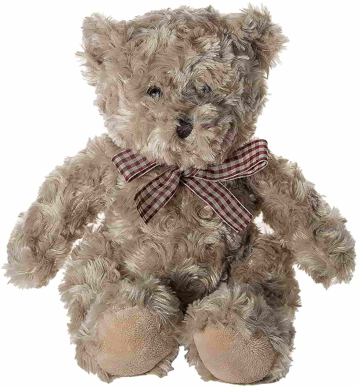Very cute and affordable stuffed bear is washable and safe for babies.