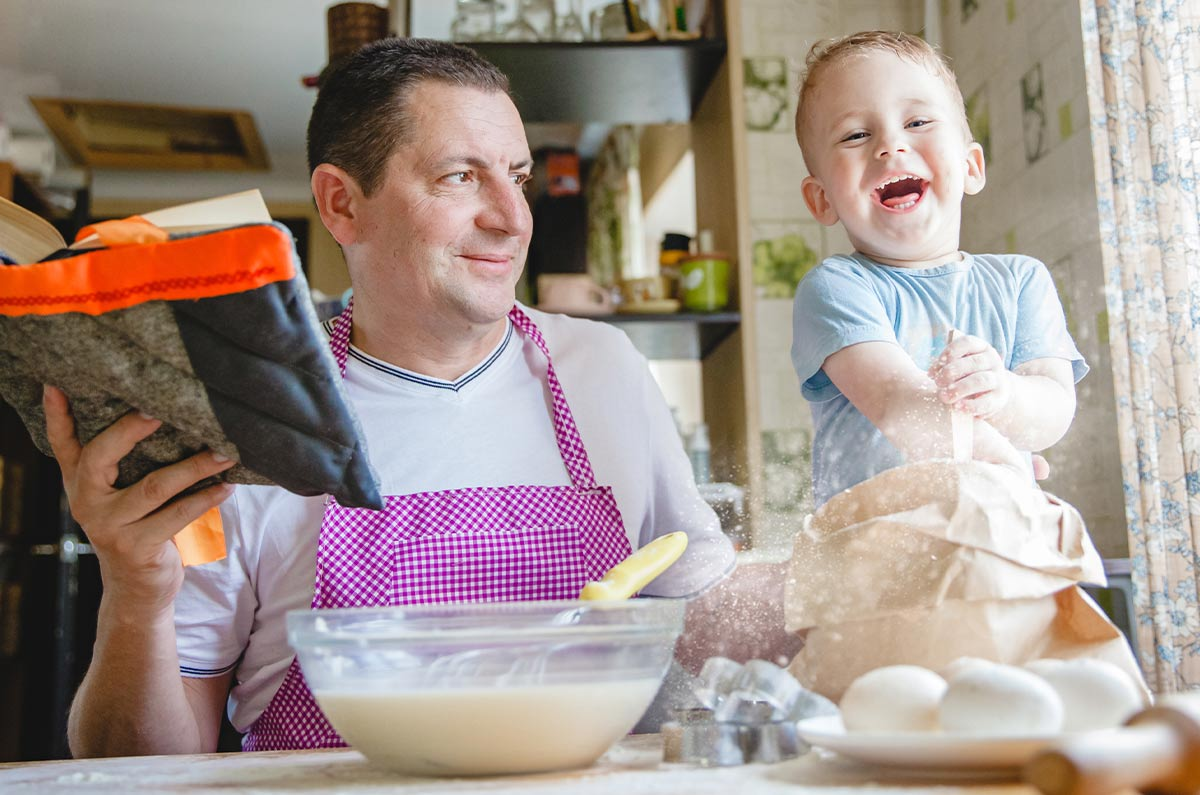 Children aged three and older will love to get involved in baking the cake.