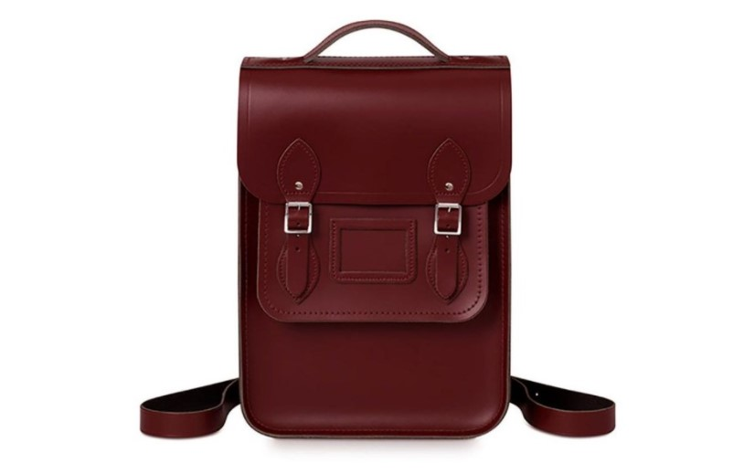 100% leather with top handles Portrait Backpack.