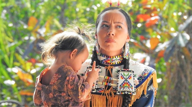 Native American names are given in a lavish ceremony steeped in tradition.