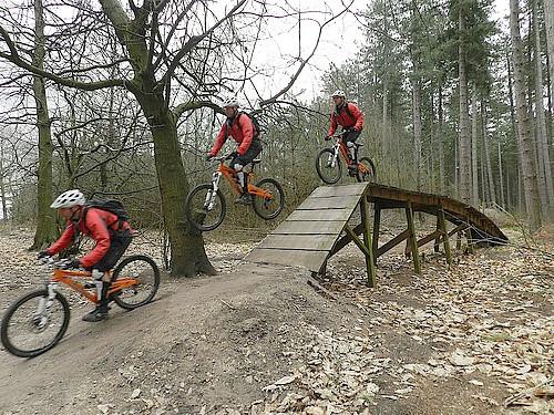 Sherwood Pines Mountain Biking course.