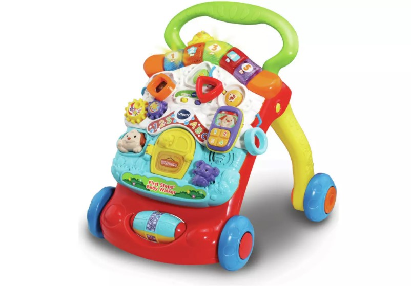 Colourful, imaginative and action-packed baby walker.