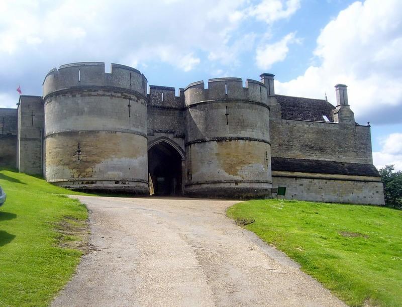 Entrance to 11th century Rockingham Castle.
