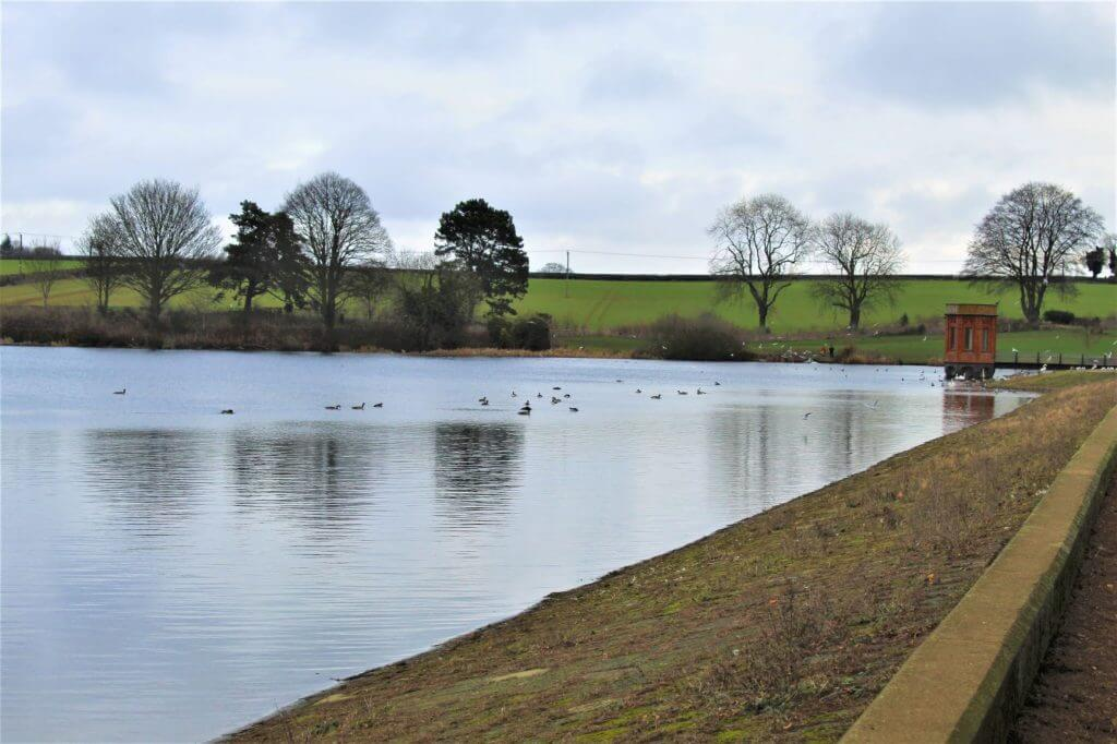 The old reservoir/lake at Sywell Country Park.