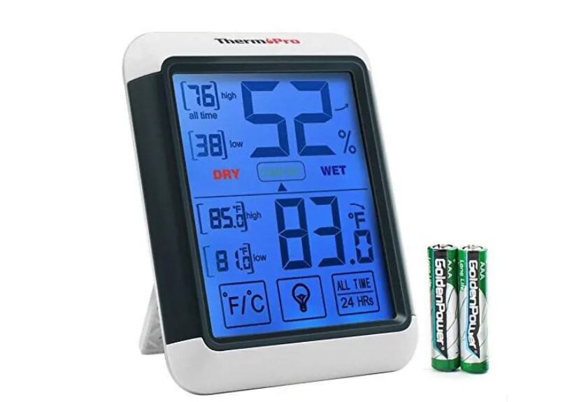 Unique with dual function and easy to use digital indoor hygrometer.