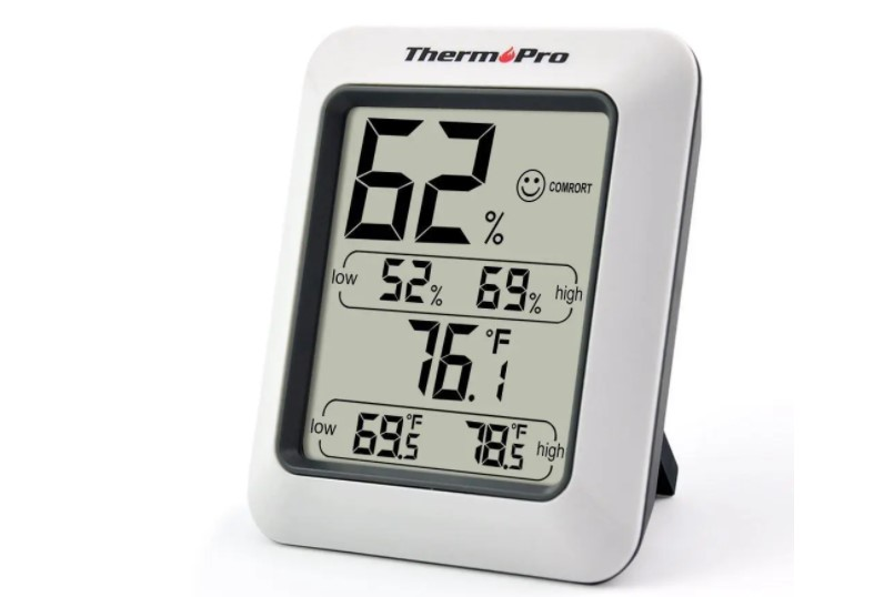 Multi functional portable room thermometer and digital hygrometer.