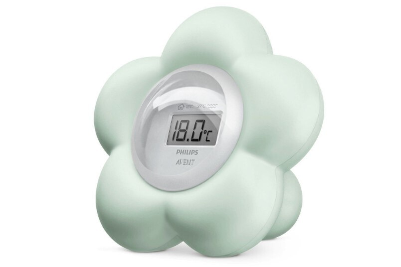 Hassle free flower avent baby bedroom and bathroom digital thermometer.