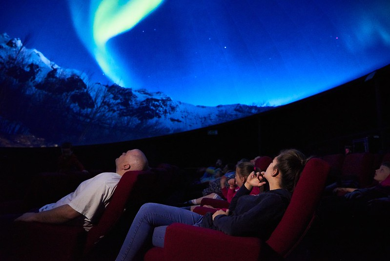 Life Science Centre planetarium with family in it.