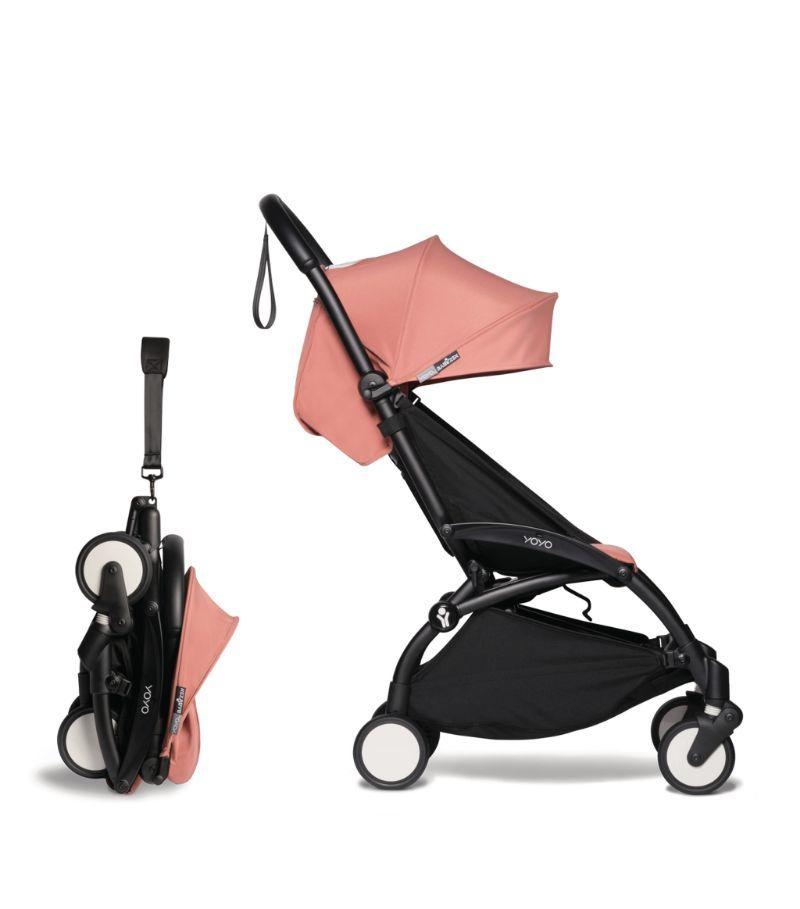 Simple Black pink stroller best for newborn babies.