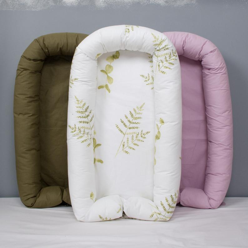 Beautiful and comfortable different colors pod or nest for newborn and toddler.