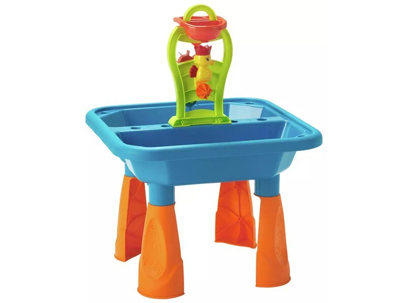 Beautiful, safe sand and water table for kids while swimming or indoor activities.