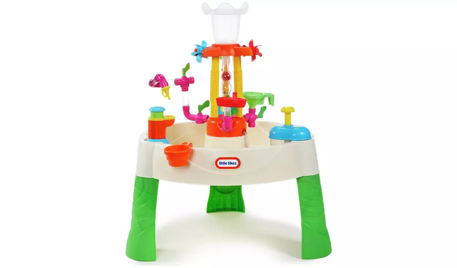 Educational, fun and colorful fountain factory water table for kids.