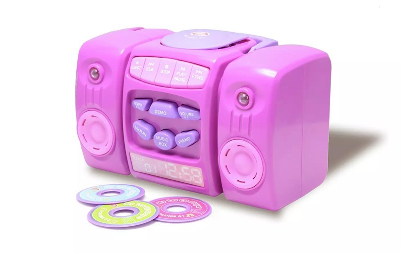 Gorgeous pink CD player for music lover little girls.