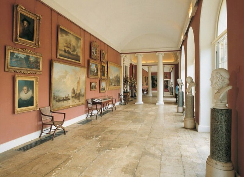 The Orangery, originally for fruit trees but now a gallery.