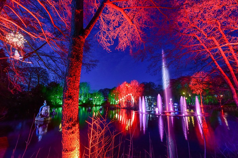 Stockeld Park Christmas adventure with lights and festivities.