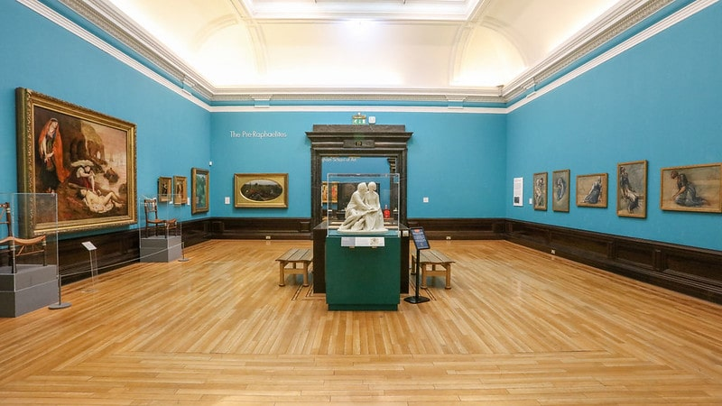 The Pre-Raphaelite gallery room at Birmingham Museum and Art Gallery.