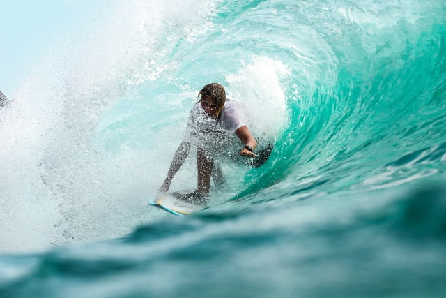 (Surfing beaches are popular all over the world.