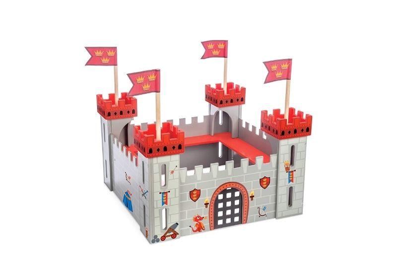 Durable warrior theme wooden castle set.
