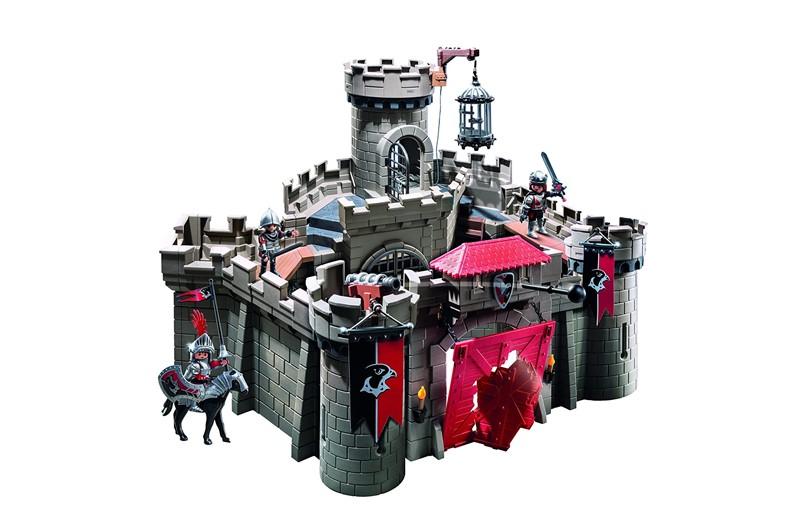 Unique, elegant black hawk knights castle perfect for warrior or patriotic games.