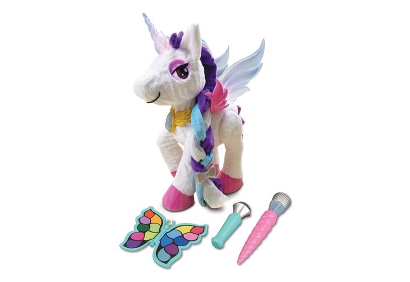 Colorful fluffy fantasy unicorn.