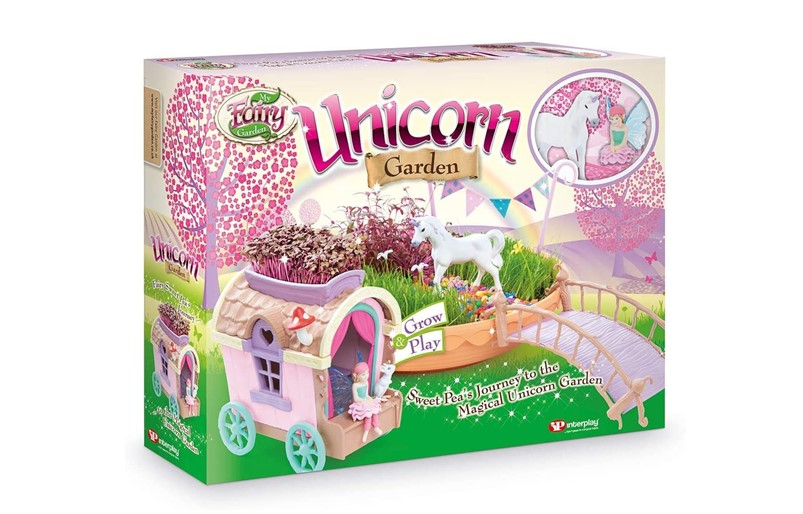 Fabulous pink unicorn garden set.
