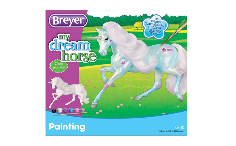 Colorful unicorn kit for you to paint in your own creativity.