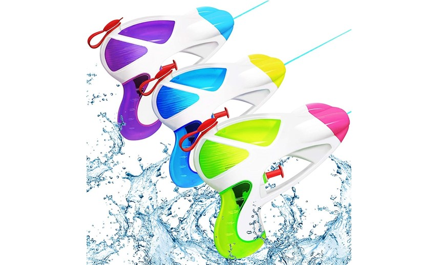 Colorful and high quality set of water pistol for water games.