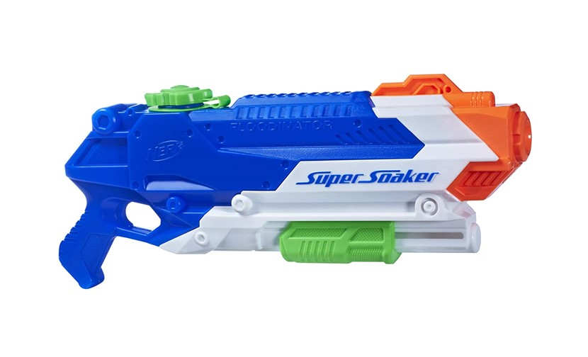 Safe and colorful soaker floodinator gun.