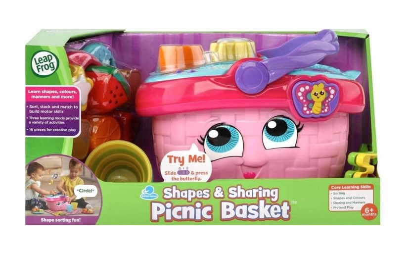 Adorable and attractive pink shapes and sharing picnic set for kids.