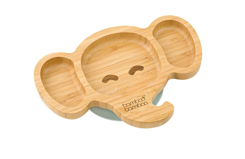 Simple elegant bamboo elephant suction plate.