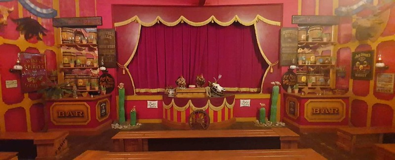 The shop for the sing-a-long show.