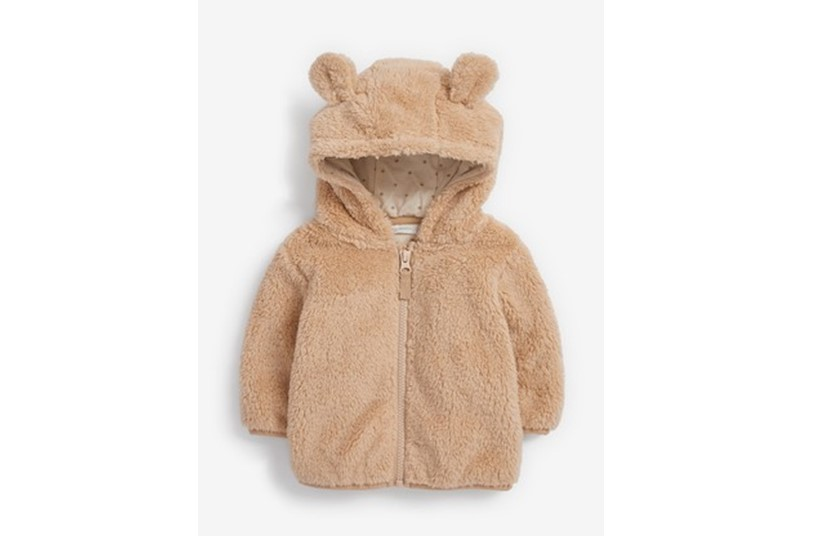 Adorable little cosy fleece bear jacket perfect for the babies to warmth.
