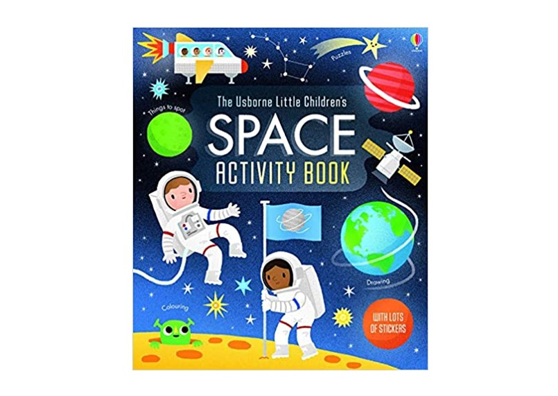 Outer space activity book to know and experience the space.