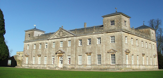 The Palladian exterior of Lydiard House.