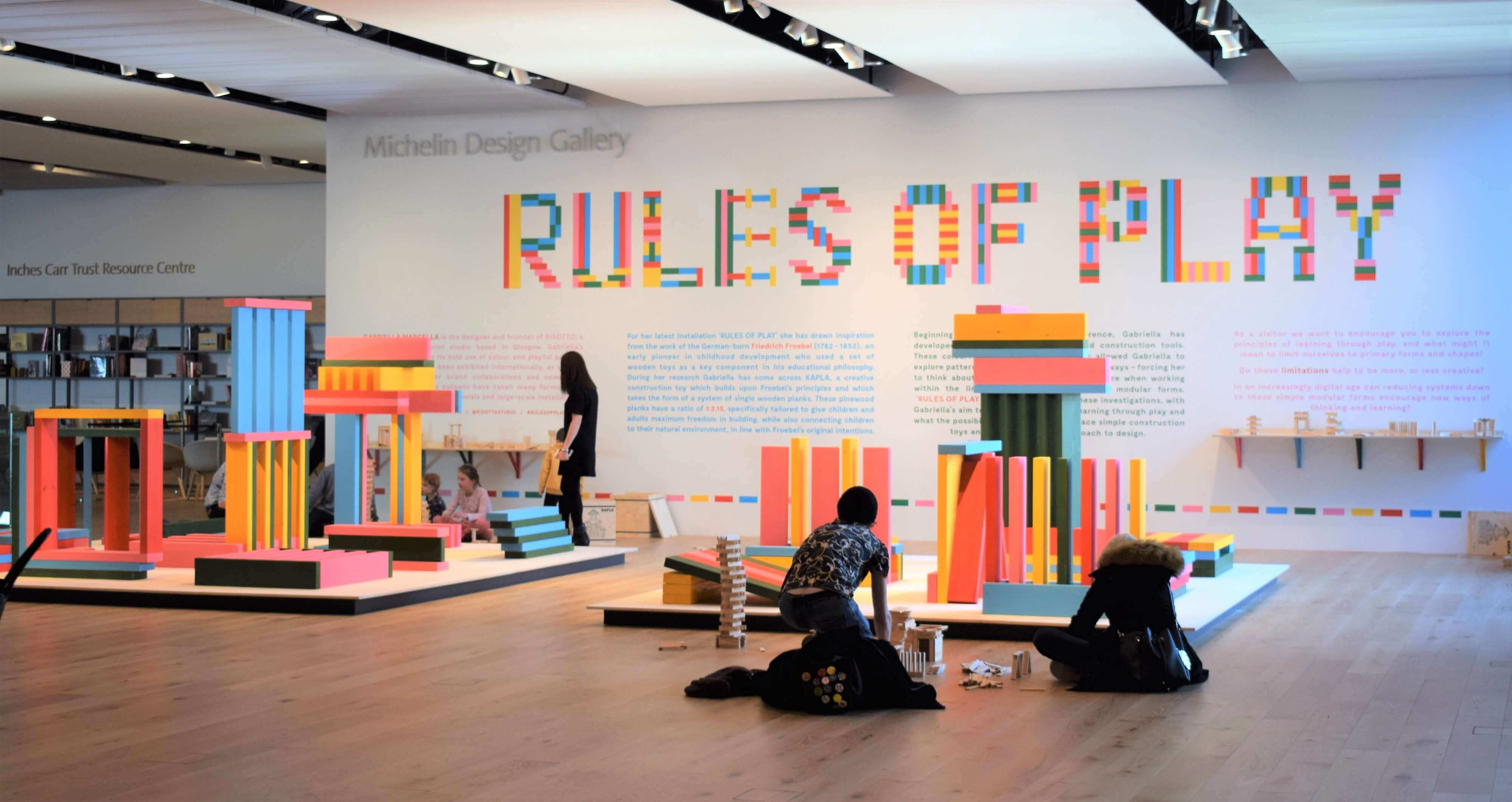 The previous Rules of Play exhibition.