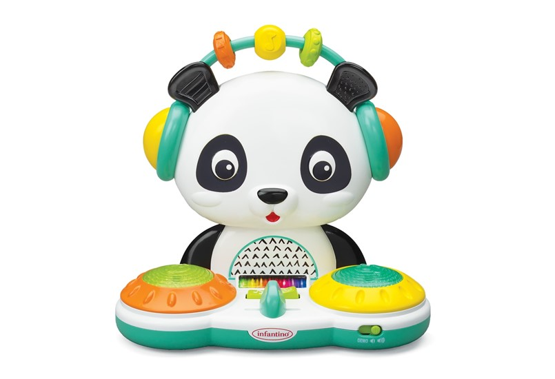Unique and cute spin and slide DJ panda that will creates silly songs perfect for little kids as mini maestro.