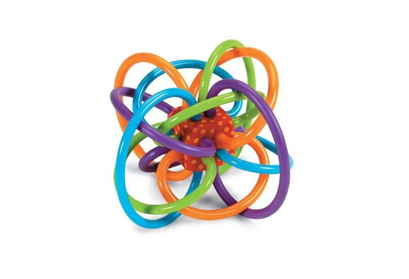 Colorful, unique structure and design best for babies rattle and teething toy.