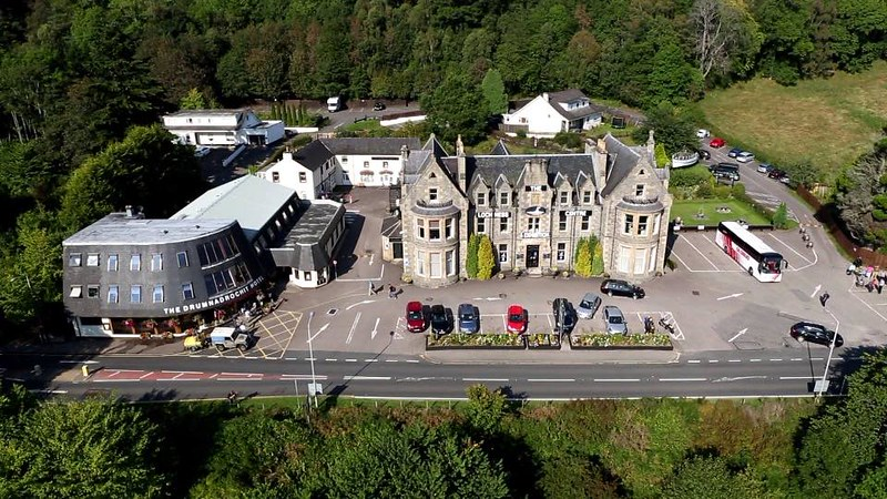Aerial view of Loch Ness Centre and Exhibition.