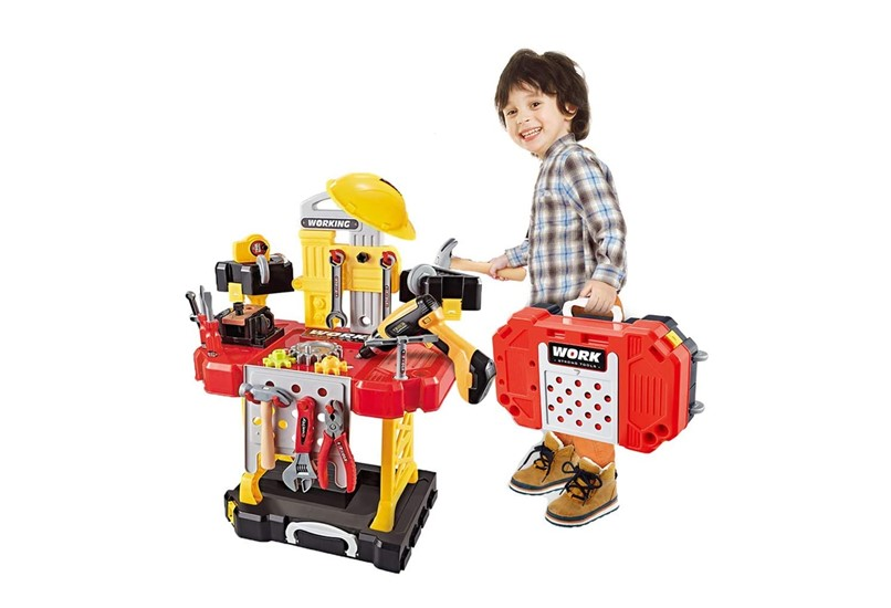 Set ofconstruction tools and equipment  toys for toddlers helps in developin skills.