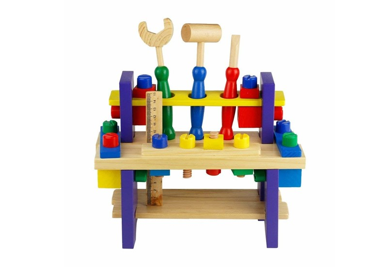 Fun and educational wooden  construction toys.