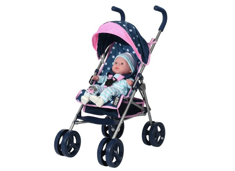 Beautiful dolls junior cruiser stroller, less weight and nice design prefect for liitle girls
