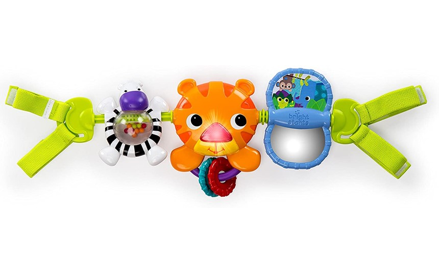Colorful and attractive tiger toy bar for babies safety and entertainment.